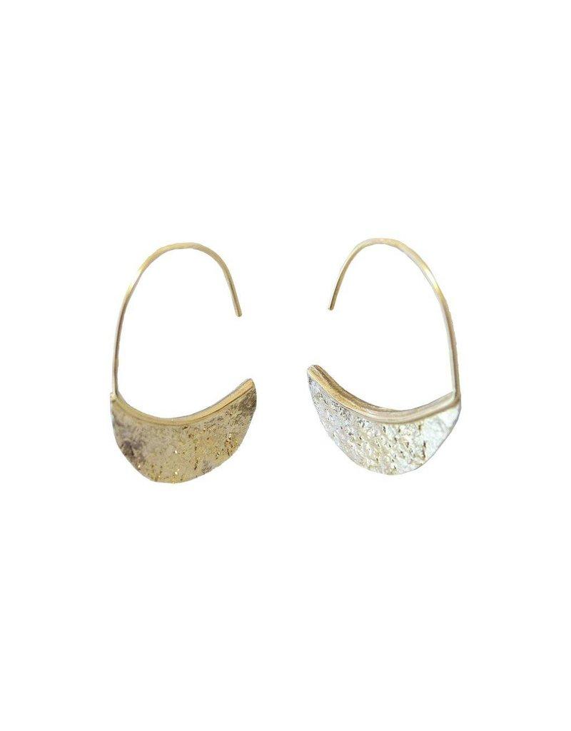 Kate Maller Crescent Drop Earrings-18k Gold Fused