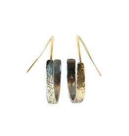 Kate Maller Everyday Hoop Earrings-18k Gold, Oxidised Fused Silver