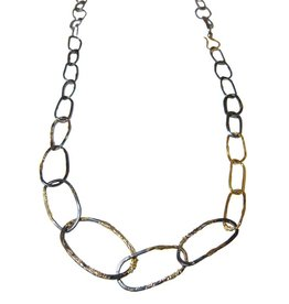Kate Maller Organic Black + Gold Chain Link Necklace