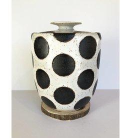 Matthew Ward Black Polka Dot Jar