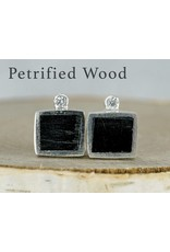 Young In The Mountains Cube Stud Earrings