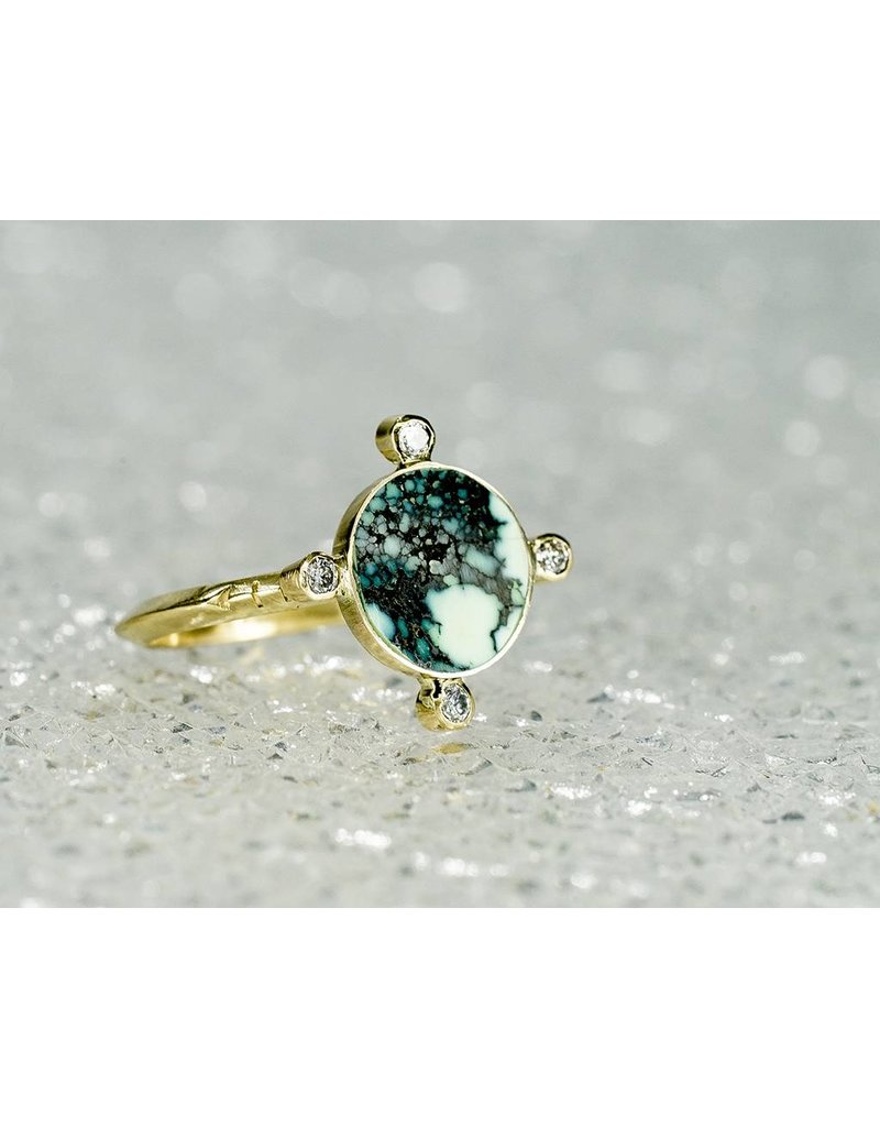 Young In The Mountains Compass Chrysocolla Ring: Size 6.