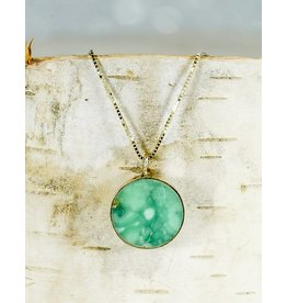 "Young In The Mountains Circ Necklace Lucin Variscite: 18"" 14ky Gold"