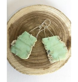 Nichole Shepherd Jewelry Chrysoprase Slab Earrings