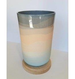 Peaches Sunset Vase