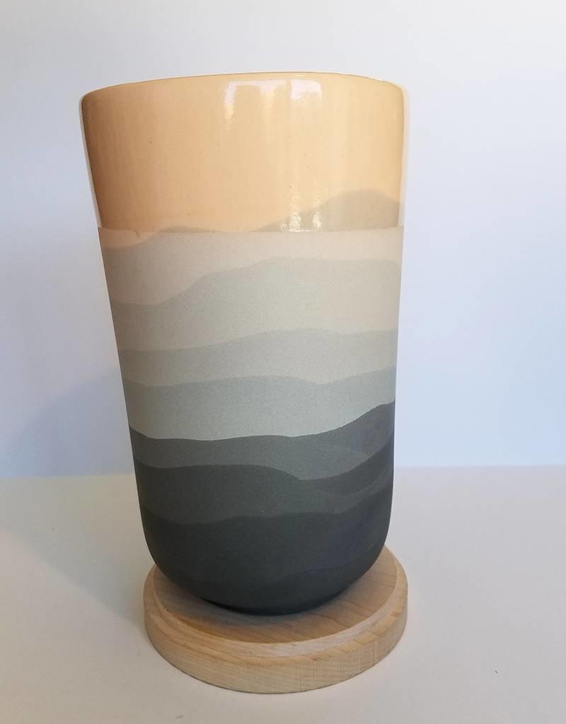 Peaches Gradient Vase