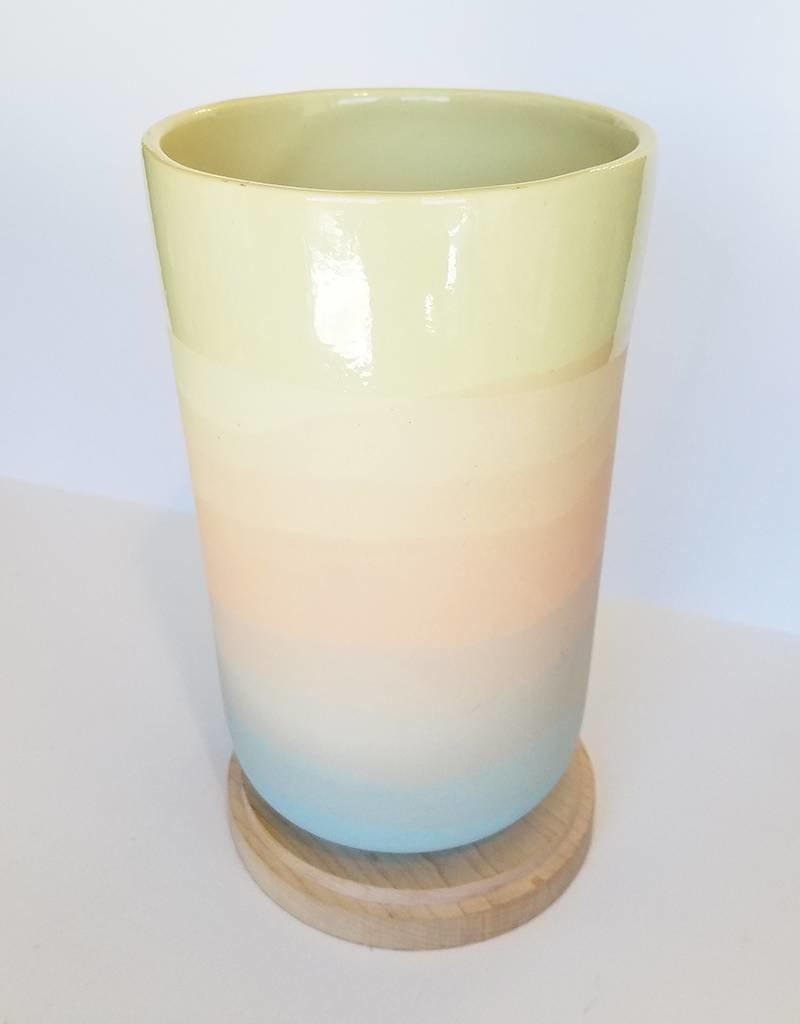 Peaches Sunrise Vase