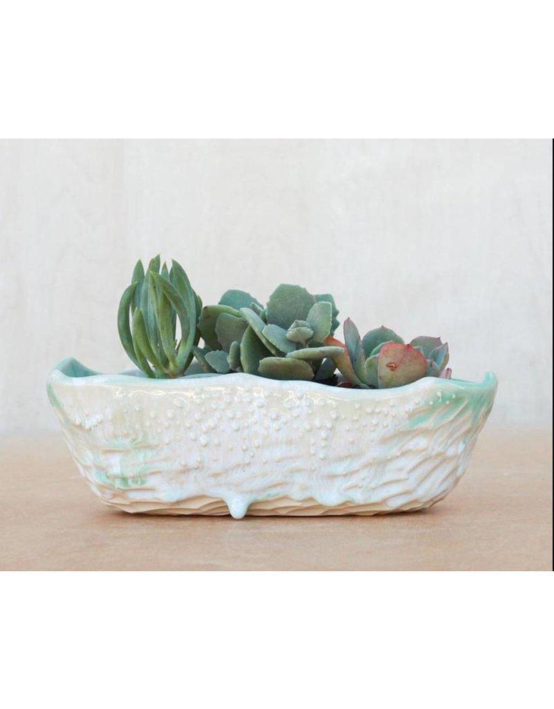 Unurth Ceramics Neptune Boat Planter Small-Confeti
