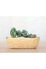 Unurth Ceramics Neptune Boat Planter Small-Shino