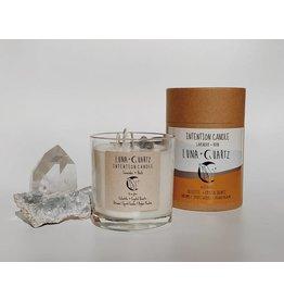 Luna + Quartz Lavendar + Herb Intention Candle