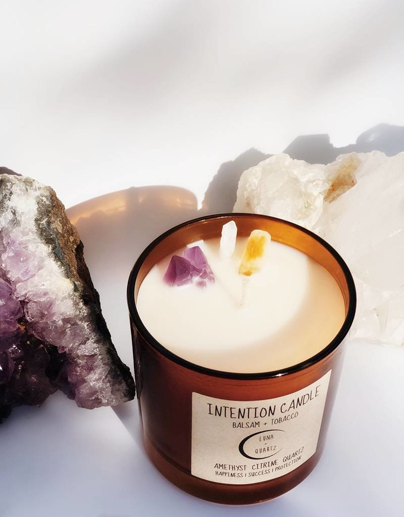 Luna + Quartz Balsam + Tobacco Intention Candle