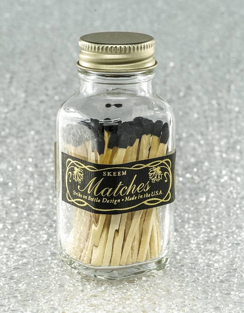 Skeem Design Mini Vintage Match Bottle-Black