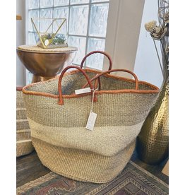 "Creative Women The Seaside 18"" White Sisal Baskt"