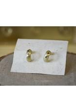 Judi Powers Jewelry Baby Hoops 14k Gold with Cognac Diamonds