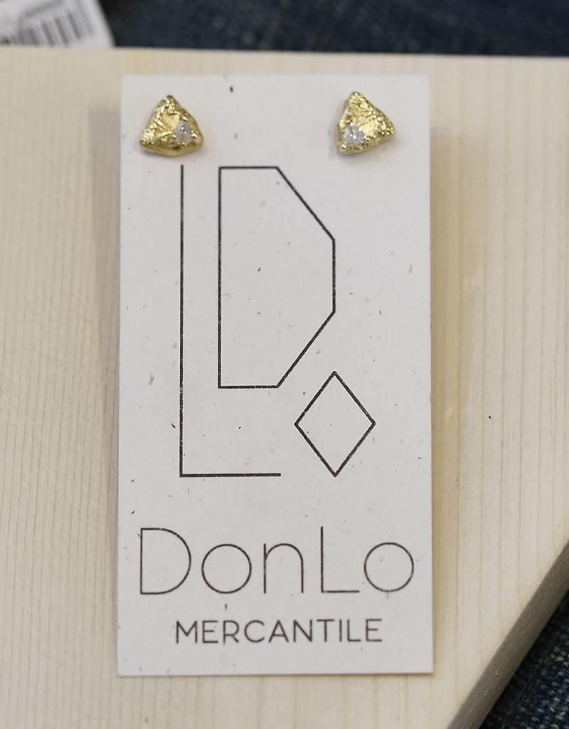 Sarah Graham Metalsmithings Trigon Diamond Stud Earrings.10ct white diamonds