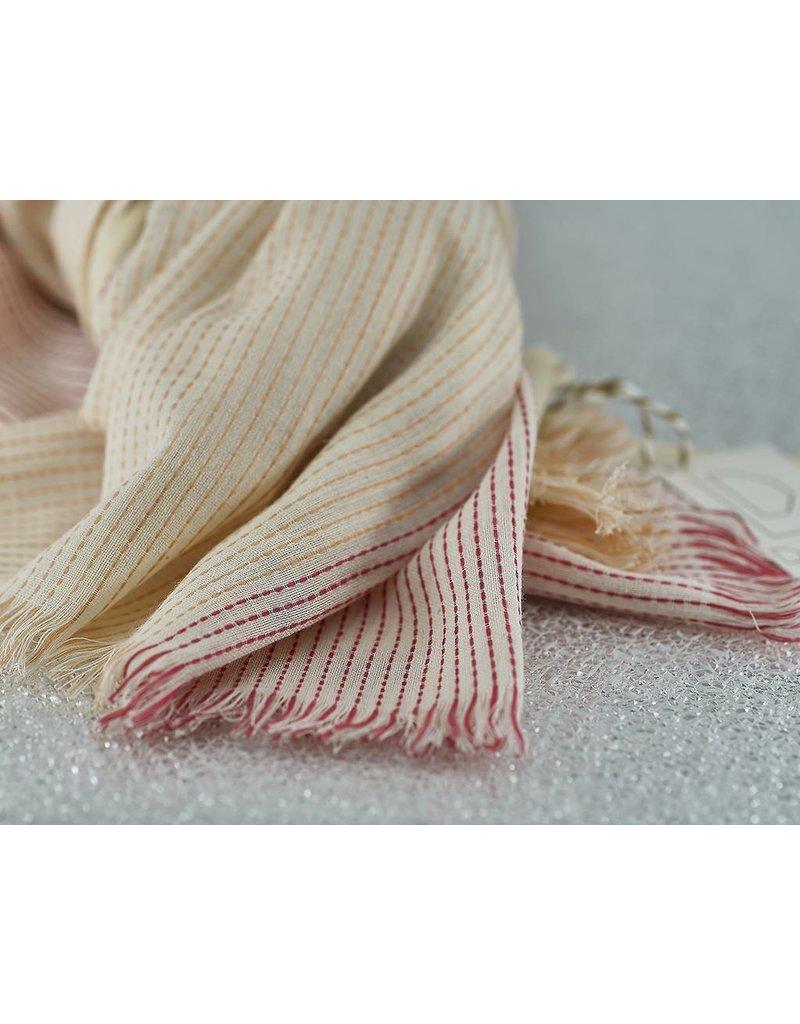 Bloom & Give Haiku Organic Cotton Scarf-Coral