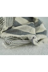 Bloom & Give Sagar Gray Cotton Scarf
