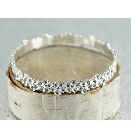 Judi Powers Jewelry Impatiens Bangles-Sterling Silver: Small