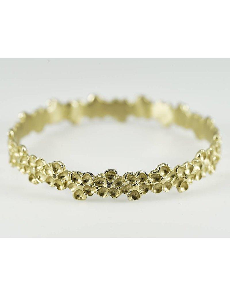 Judi Powers Jewelry Imaptiens Bangles-14k Gold with Cognac Diamonds-Small