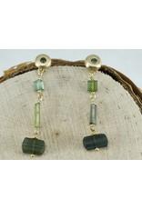 Judi Powers Jewelry Green Tourmaline 18K Gold Earrings