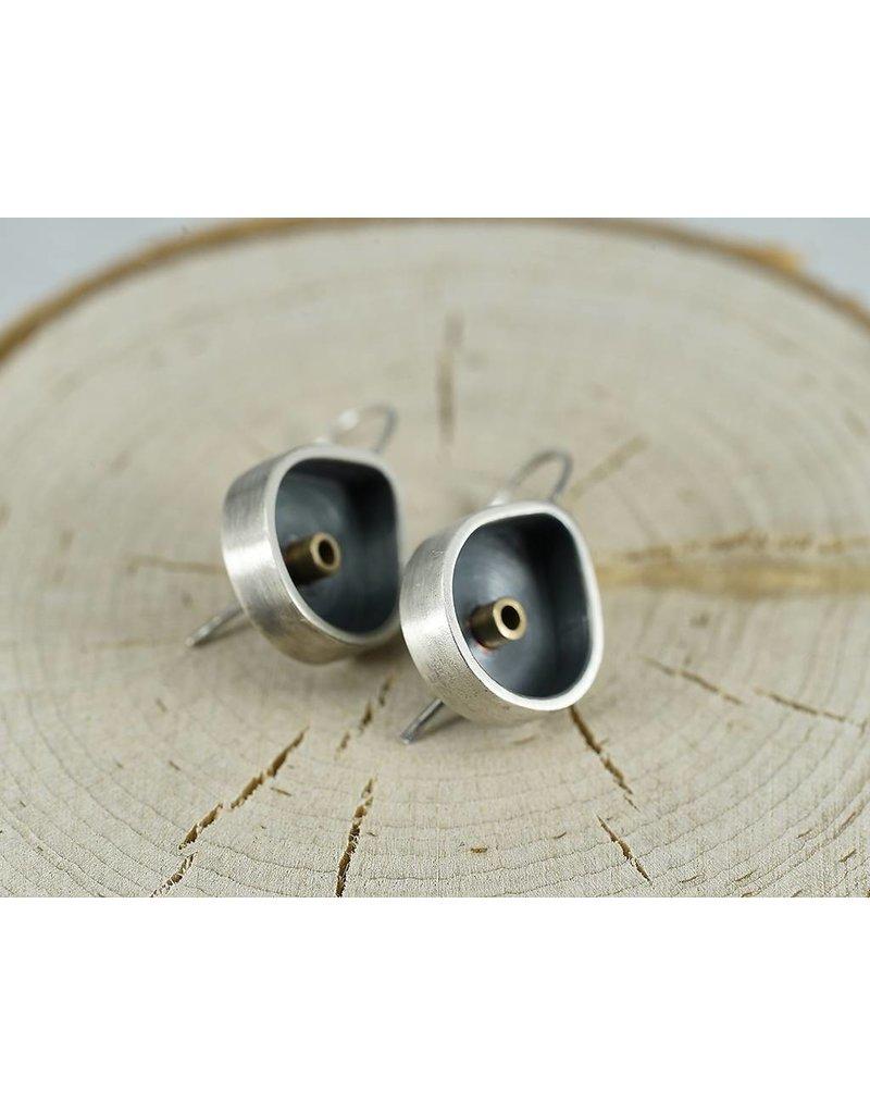 Elle Naz Oxidized Teardrop Sterling Earrings