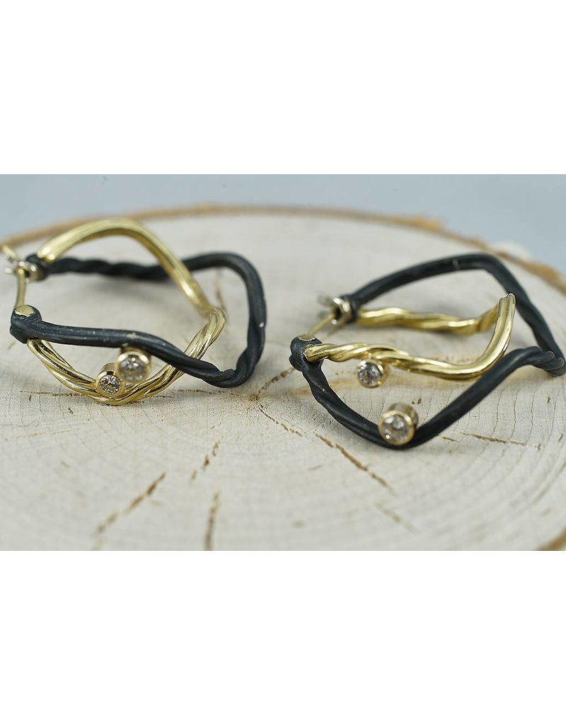 Sarah Graham Metalsmithings Clover Small Double Hoops