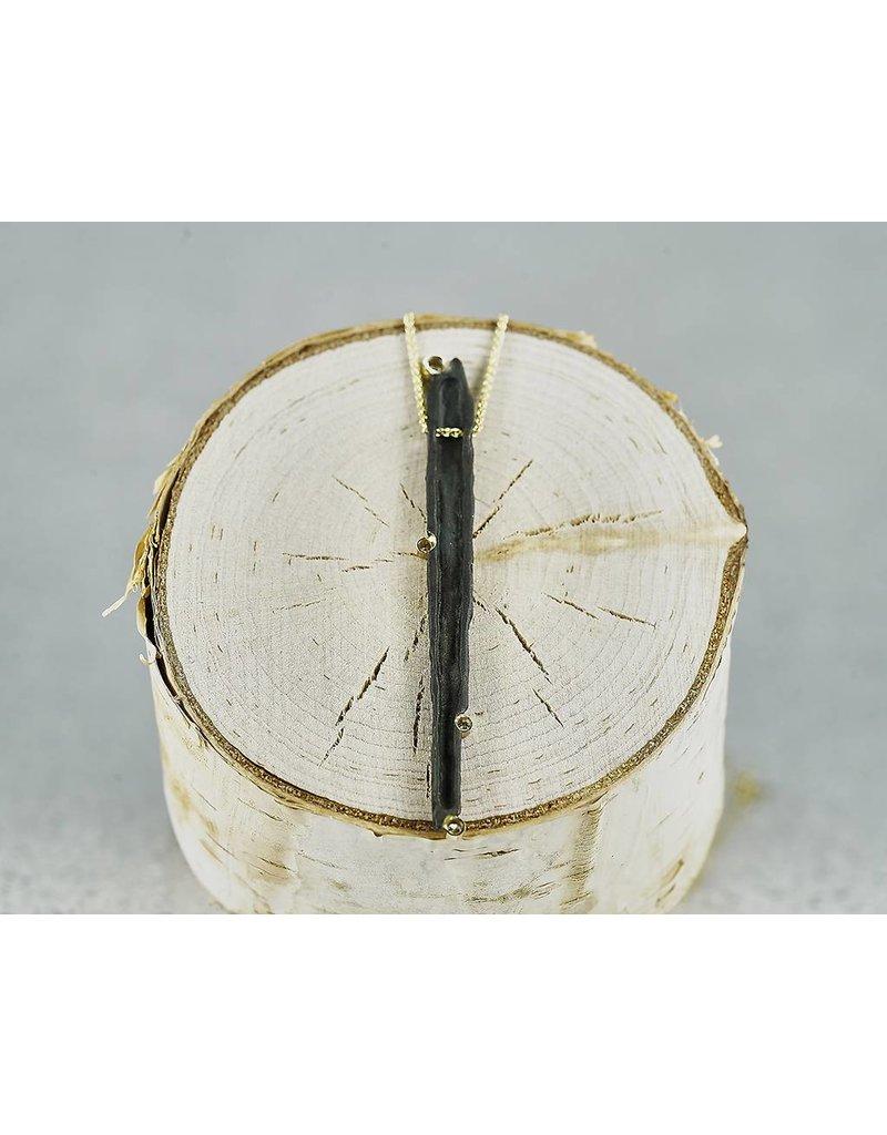 Sarah Graham Metalsmithings Manzanita Pendant with .12 ct White Diamonds