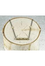 "Sarah Graham Metalsmithings Aspen 18"" Necklace; One Gold Stick XS"