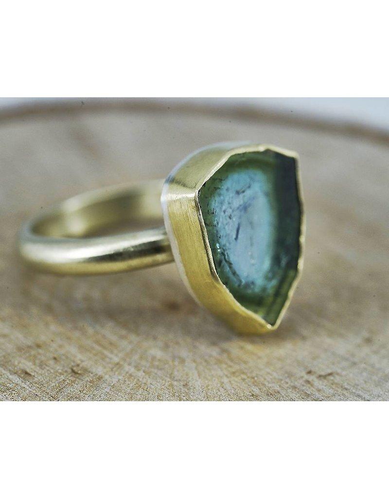 Judi Powers Jewelry Tourmaline Slice Ring-14k Green Gold size 6