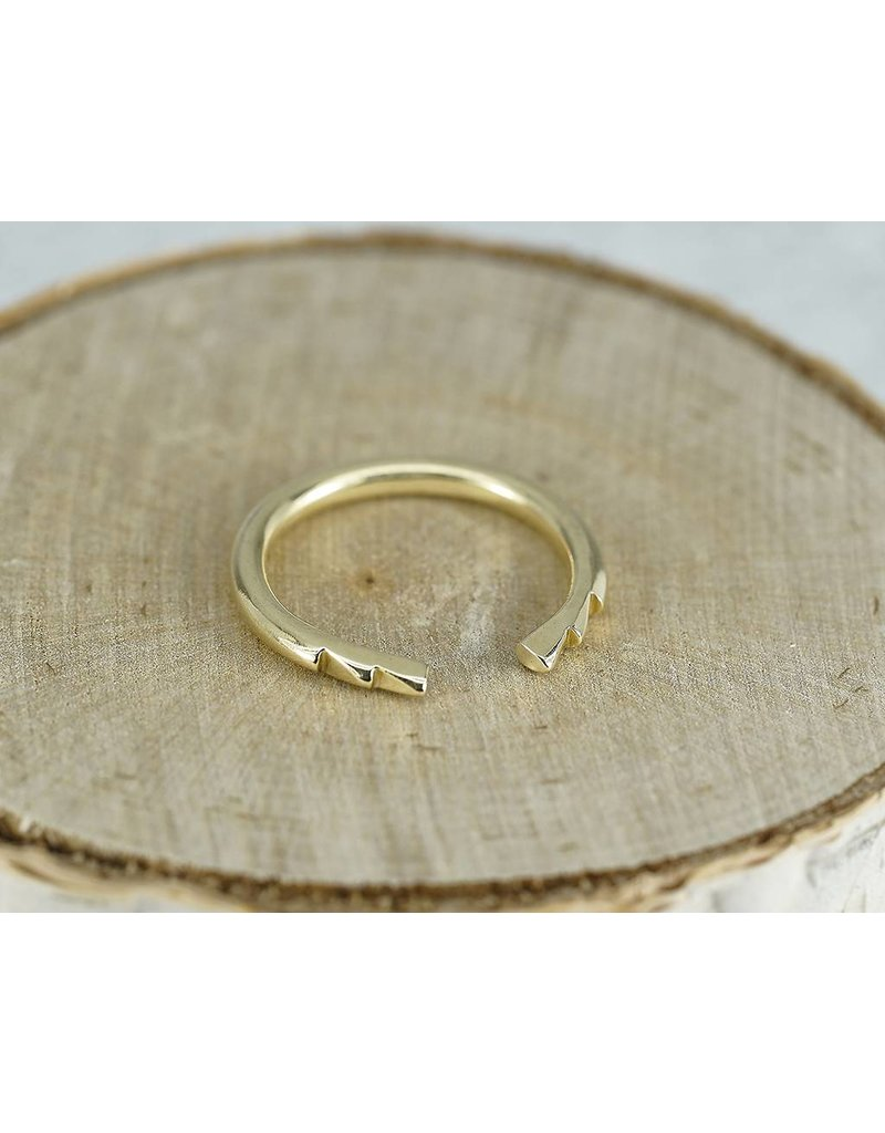 Elle Naz 3 Spike 14k Gold Open Ring