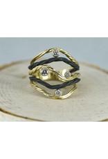Sarah Graham Metalsmithings Clover 5 wire Ring
