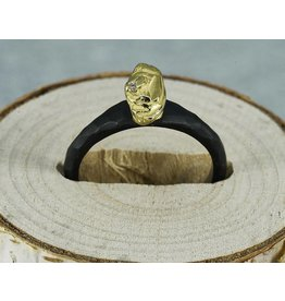 Sarah Graham Metalsmithings Arches Stack Ring Vertical YG/CC