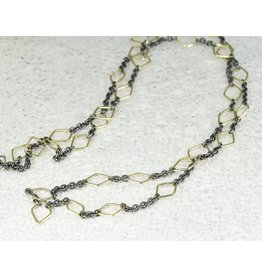 Sarah Graham Metalsmithings Trigon 33 Chain with 15.75 Gold Handmade Triangle Links