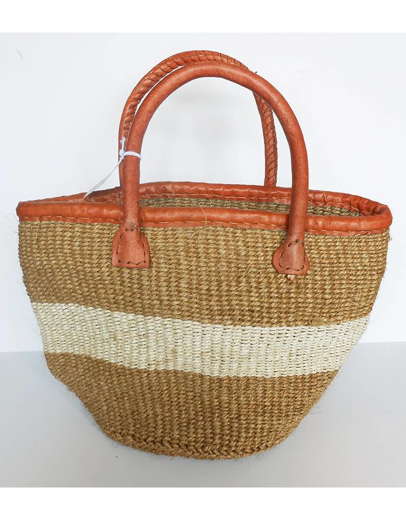 "Creative Women The Traveler-8"" White Sisal Basket"