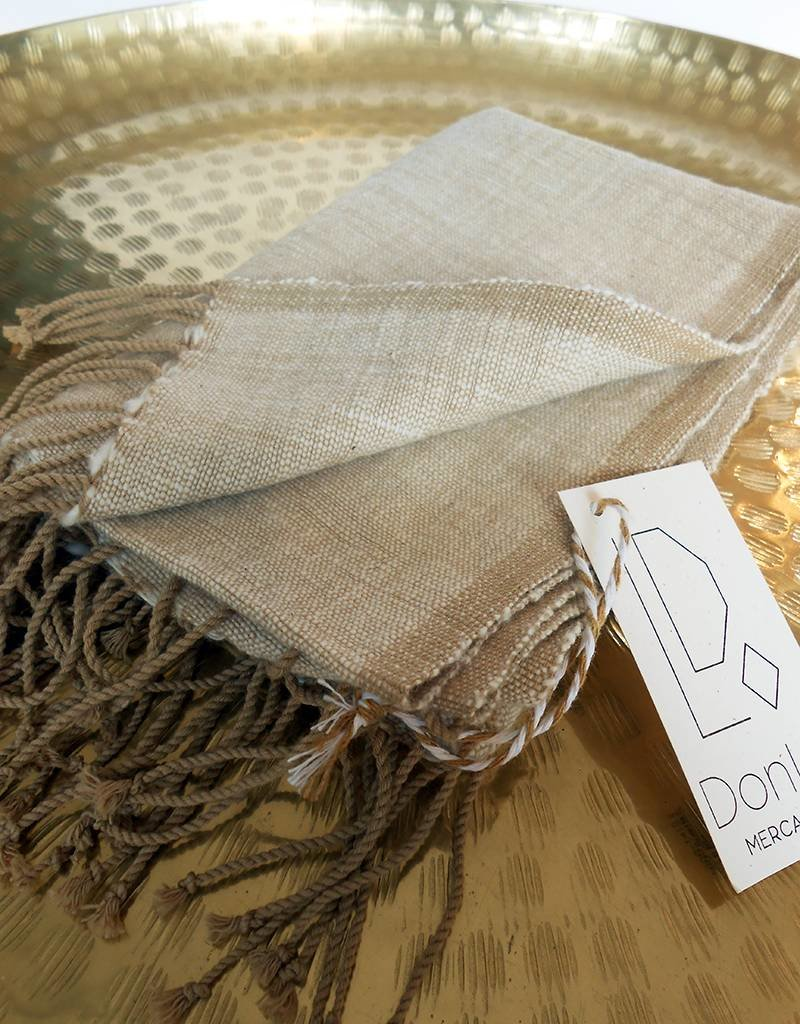 Creative Women Petra Beige Warp Cotton Hand Towel