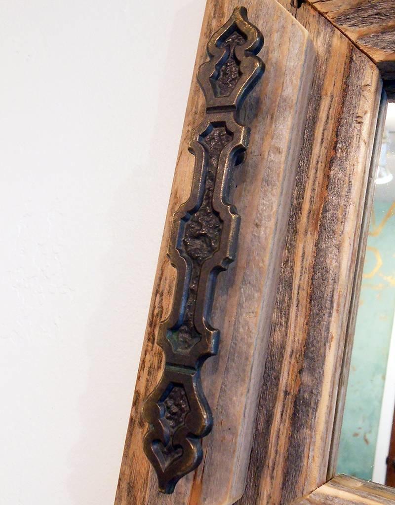 Devon-Made In Breckenridge Colorado Wood Vintage Door Knob Mirrow