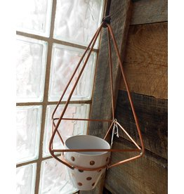 Devon-Made In Breckenridge Colorado Brass Planters with Pot-Hanging