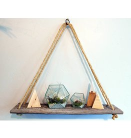Nichole Shepherd Barn Wood Rope Shelves