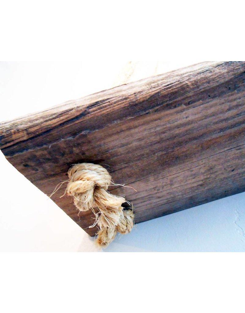 Nichole Shepherd Barn Wood Rope Shelves
