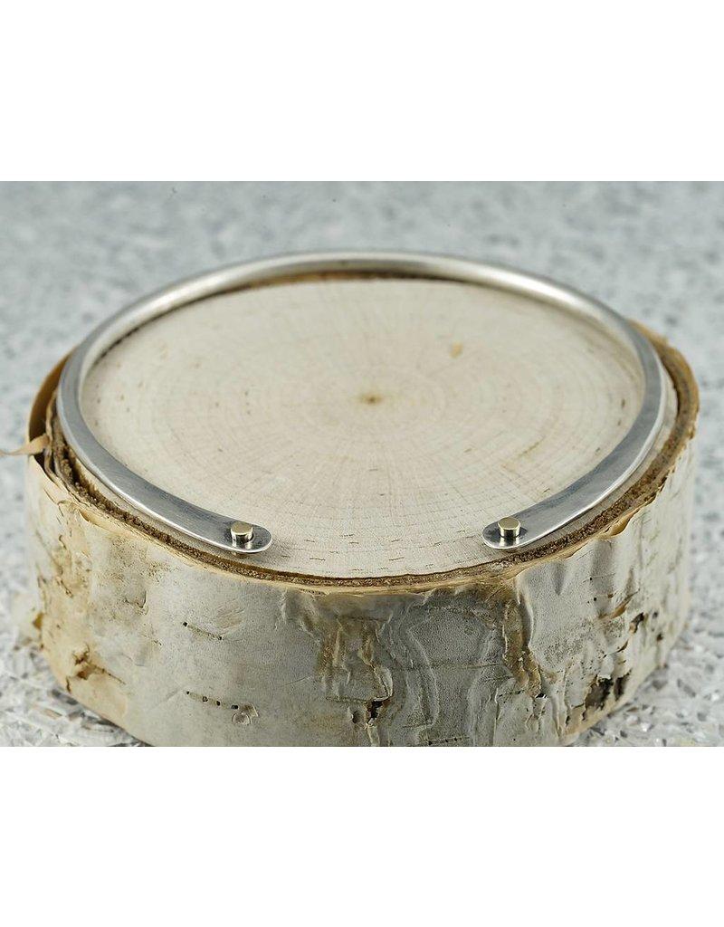 Elle Naz Sterling Silver Bracelet 14k Gold Tubes