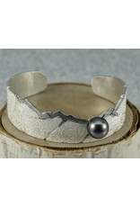 Jenny Reeves Sierra Cuff with 10.5mm Tahitian Pearl