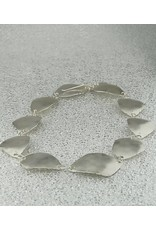 """Jenny Reeves 10 Piece, Geo Collar Necklace, Brite Sterling Silver w Oxidized edges,  1"""" inch extender"""