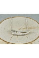 Jenny Reeves Atomic Bar Pendant w 2.4mm Choc. +1.3mm white Diamonds 18k Bezel