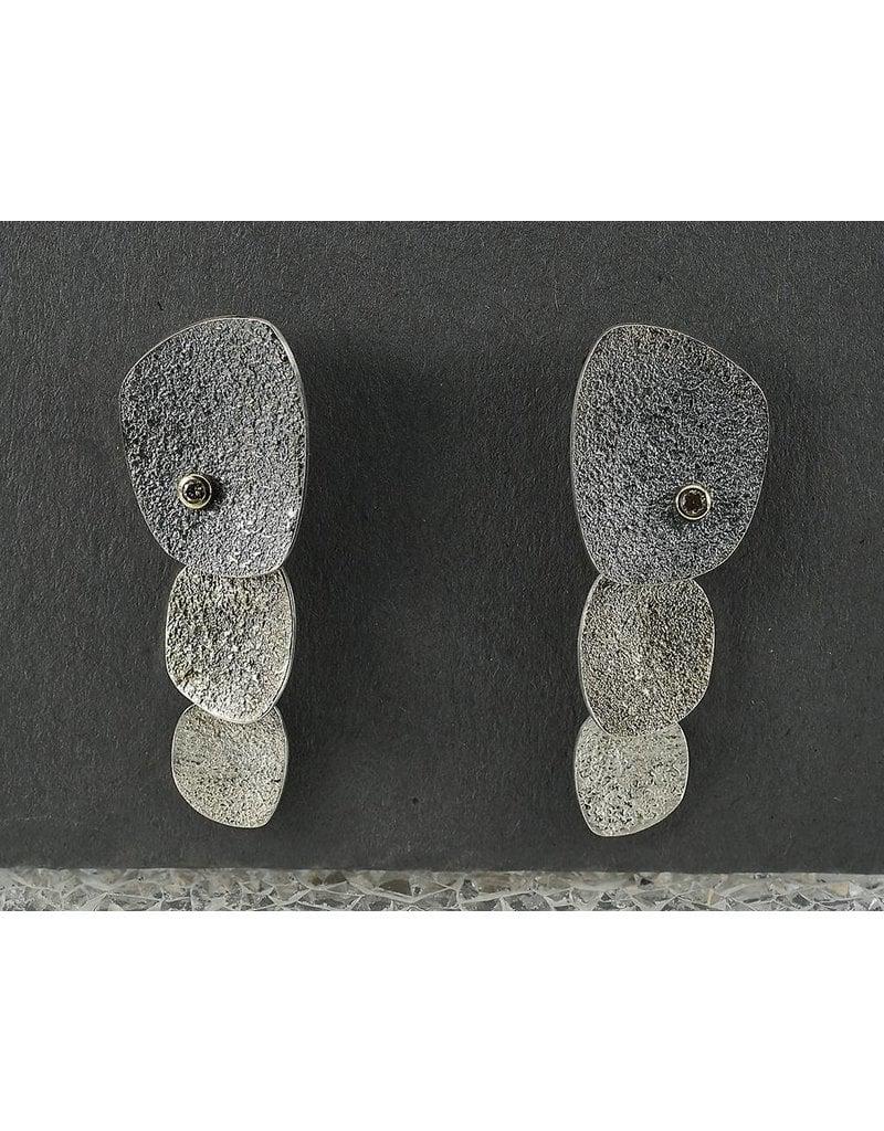 Jenny Reeves 3 PC Pebble Ear w 2MM Champ.Diamonds Posts