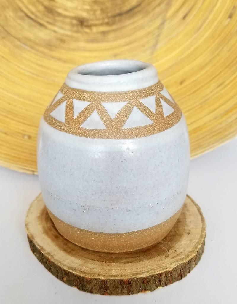 Settle Ceramics Geo Bud Vases-Matte White
