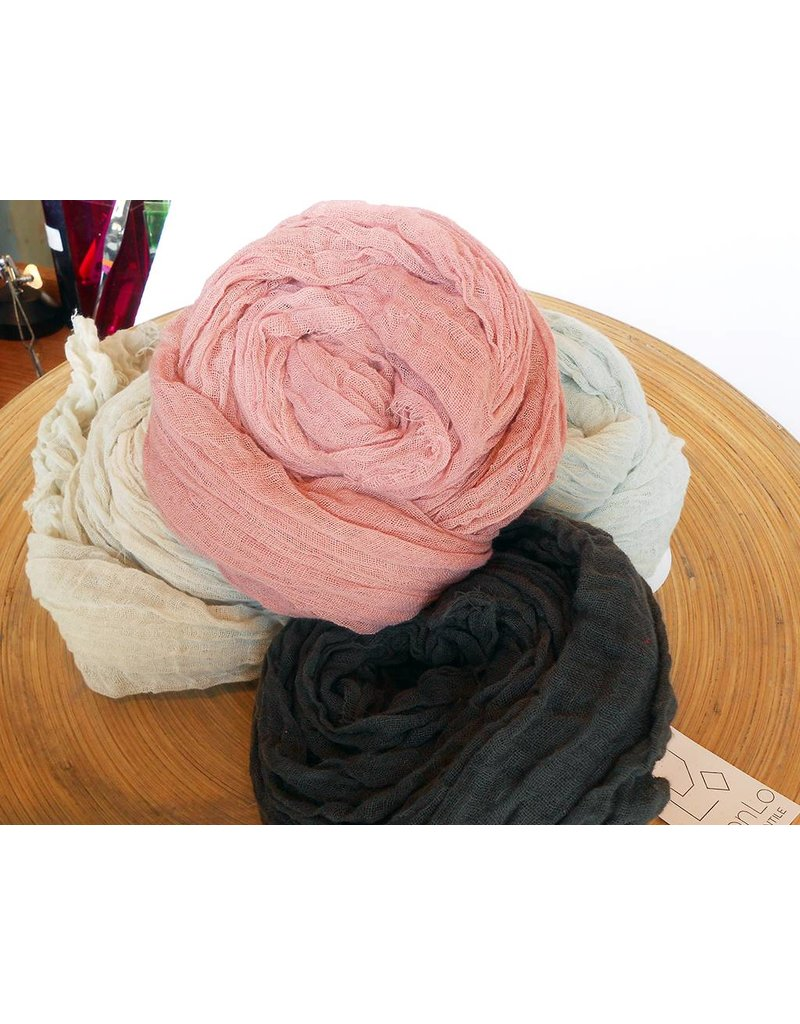 Scarf Shop Fine Organic Cotton Scarf small-Midnight