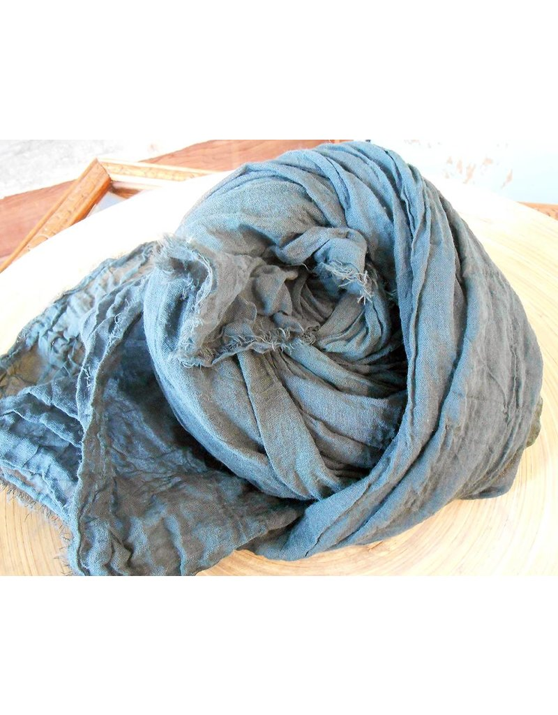 Scarf Shop Fine Organic Cotton Scarf Small-Ice Blue