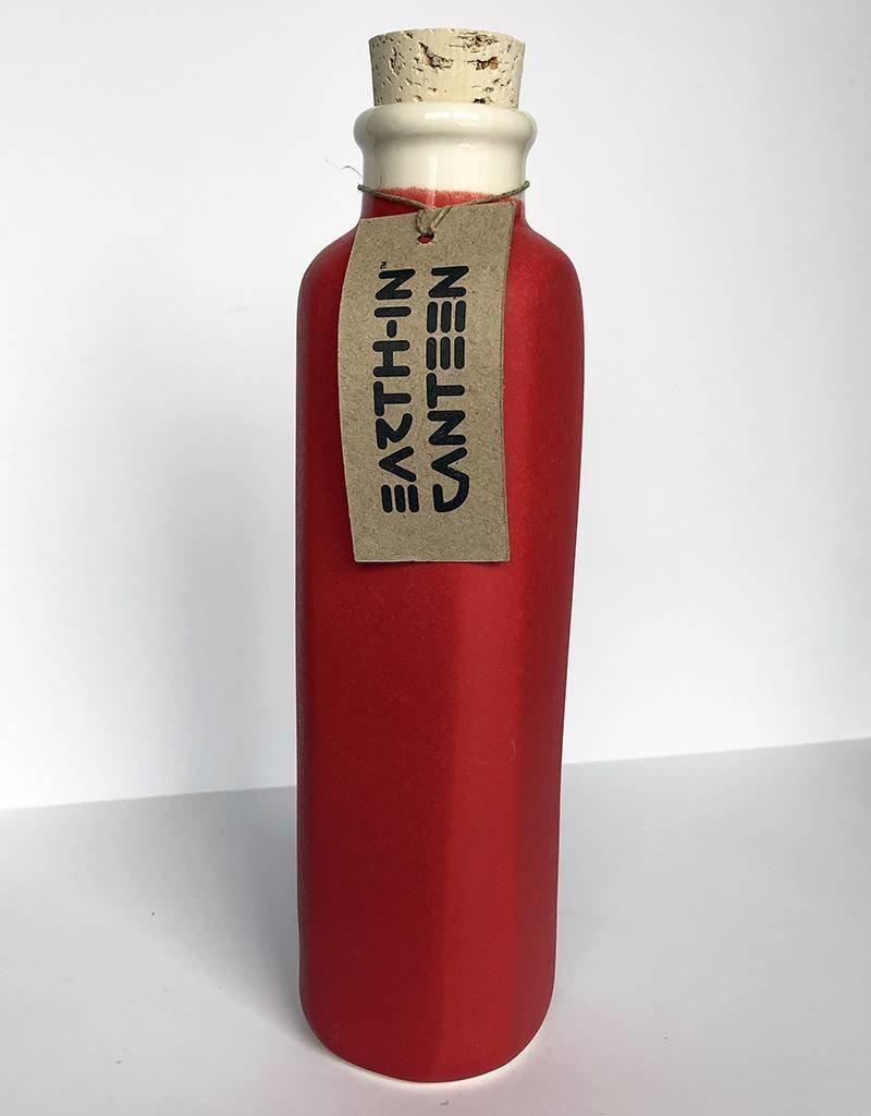 Earth-In 4 Corners 24oz Water Bottle-Matte Red