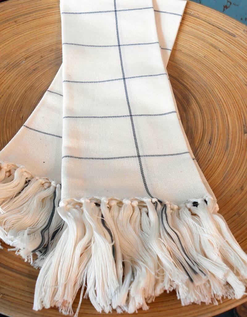 MINNA Cream Grid Towels