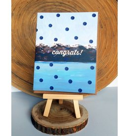 Ferme A Papier Polka Dot Moutain Congrats Card